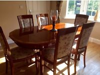 QUALITY fine furniture SOLID WOOD dining set and/or fine sideboard