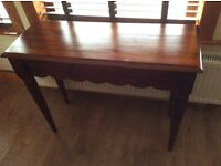 Mahogany Console / Hall Table with drawer