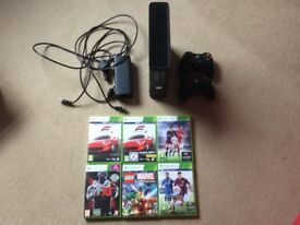 Xbox360, 2 controllers and 6 games