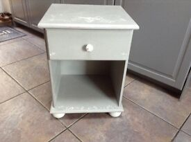 Bedside Cabinet or Side Table Shabby Chic Vintage