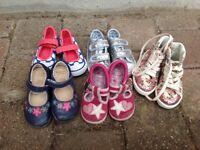 Girls Shoe Bundle Size 4 - Clarks, M&S