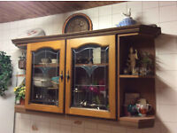8 USED KITCHEN WALL UNITS AND DISPLAY CABINET