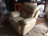 Leather armchair.