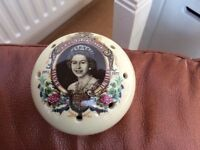 Queen Elizabeth Silver Jubilee Ceramic Pomander