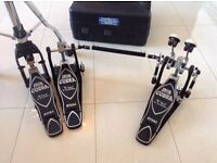Tama iron cobra rolling glide double pedal with matching hi hat stand