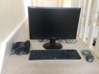 LG Comuter Monitor Hp Keyboard and Speakers