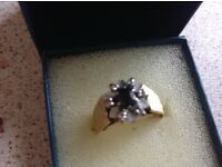 Gold 18ct engagement or dress ring