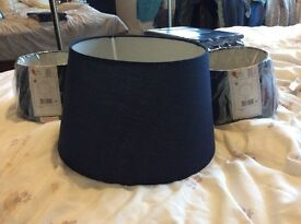 3 brand new navy lamp shades