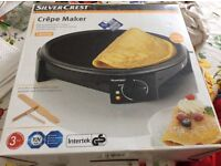 Silver crest Crepe Maker,,,never used still in box and wrapping