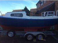Mariners mate with inboard diesel engine