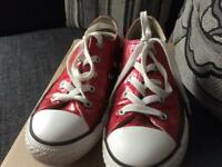 Pink converse trainers size 1 good condition