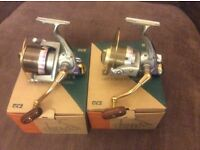 Pair of Tica Dolphin 8000se reels