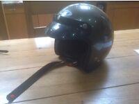 Motorbike open visor helmet metallic grey Spada size 57-58