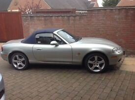 Mazda MX5 1.8i Nevada. VGC. New blue mohair roof, leather heated seats 4 new tyres, 11months MOT