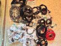 NEUTRIK XLR CABLE CONNECTOR,JACK CABLES,LOT OF DJ,STUDIO,-NEW-