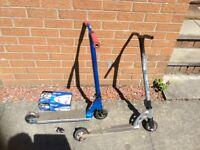 Two stunt scooters & bike lift