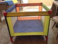 Free travel cot/ playpen