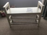 IKEA Hemnes chair and shoe stand