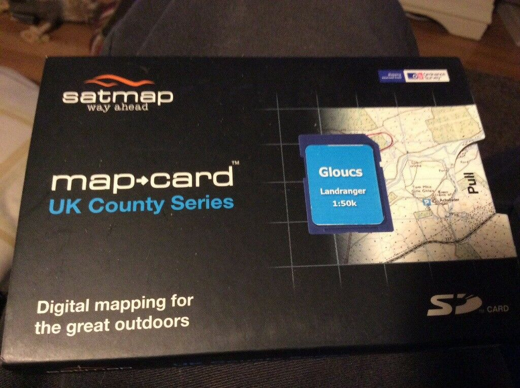 Satmap Active 10/12 county map card Gloucester 1:50000