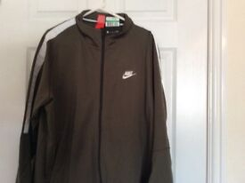 Green/White Nike tracksuit top