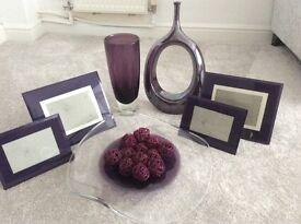 Ornaments , purple various