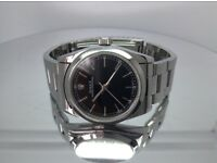 GENUINE ROLEX LADIES OYSTER PERPETUAL 1998 STAINLESS STEEL WITH ROLEX OYSTER BRACELET BLACK DIAL