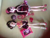 2 monster high Draculaura dolls