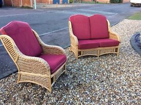 Price Reduced to clear..Top Class Wickerwork Seating..a 2 Seater plus Single..