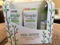 Simple Essential skin care gift set