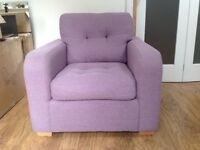 Lilac Arm Chair Excellent Condition