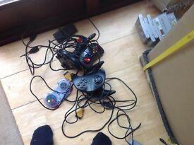 Original Nintendo games machine and playStation 1