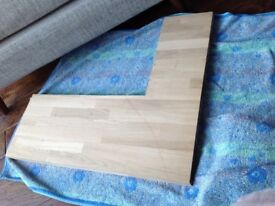 Oak wood worktop offcut, 40mm staves from Howdens