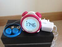 Phillips digital clock radio alarm - suitable for a child