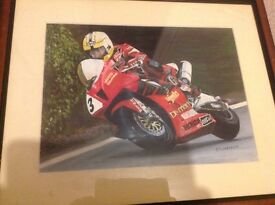 Joey Dunlop oil painting