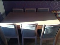 Lovely wooden kitchen table and6 chairs