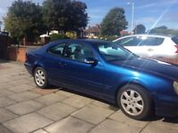 Mercedes CLK Sports Coupe Full Leather Sports Interior Tyres etc, Navy Blue Stunning