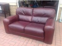 Brown leather sofas from Reids