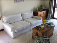 Two large 3 seater settees