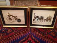Pair of L Kersh of London original pictures