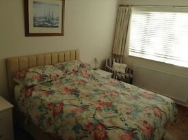 Large double bedroom in clean and quiet house