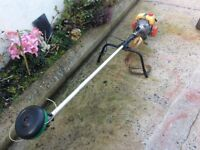 Mitsubishi T200 petrol commercial grass strimmer 2 stroke engine Harness/handle Great going machine.