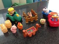 Selection of farm toys