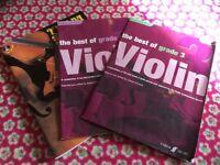 9 violin books. Various.