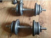 BODY MAX DUMBELLS FREE WEIGHTS SPINLOCK BARS