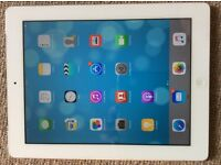 iPad 2 32 gb + unlocked sim card, white, excellent conditions
