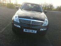 ssangyong rexton rx 270s 2.7 td 4x4 black 55reg