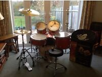 "Mapex ""M"" Series Fusion drum kit & Sabian Solar Cymbal pack with stands and stool, plus extras"