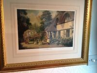 Country cottages limited signed framed prints