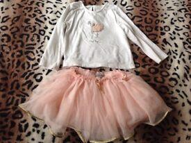 NEXT Girls Set skirt and t-shirt 12-18m