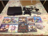 Playstation 3 Slim with 9 games